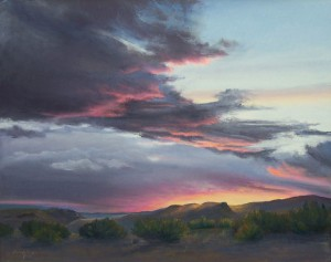 sundown-from-plaza-blanca-mesa-24-x-28-sold-giclee-reproductions-available