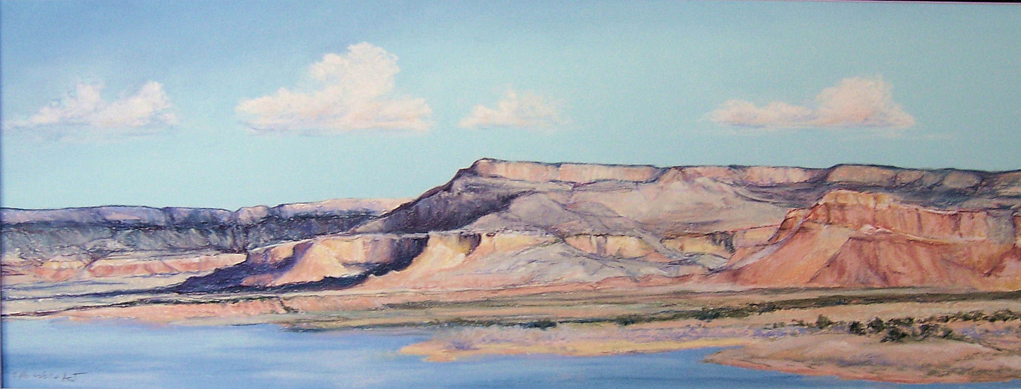 ghost-ranch-mesa-from-abiquiu-lake-9-x-24